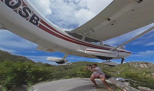 冒险:如此近距离 捕捉飞机着陆画面